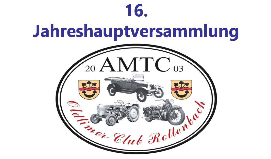 AMTC Jahreshauptversammlung