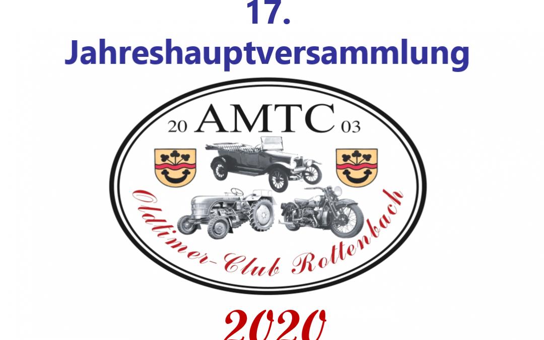 AMTC Jahreshauptversammlung 2020