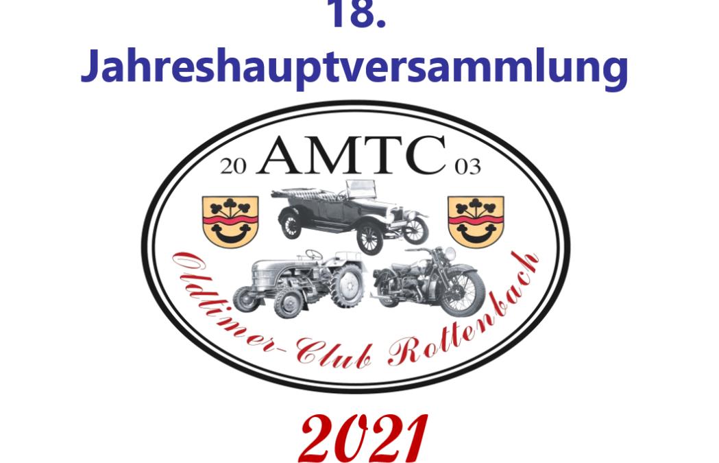 AMTC Jahreshauptversammlung 2021